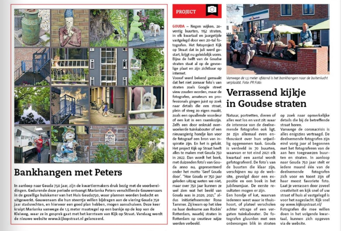 Marianka Peters in de Goudse Post over Kijk op Straat website